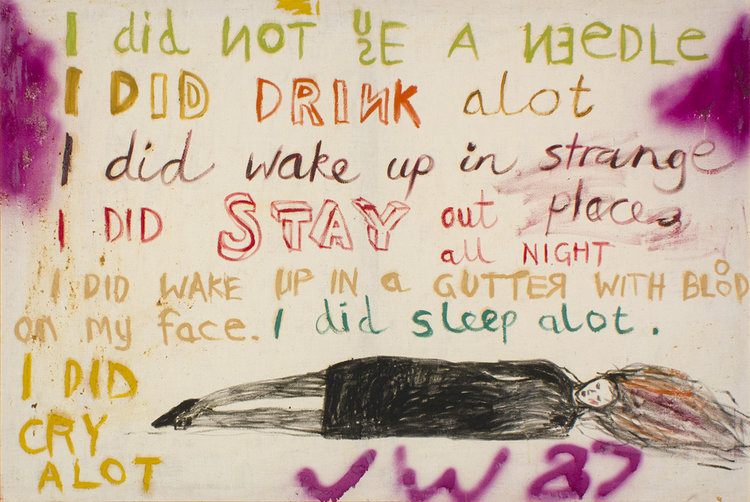 Jenny Watson, The key painting 1987, oil and gouache on cotton duck. Collection of Roslyn and Tony Oxley, Sydney.