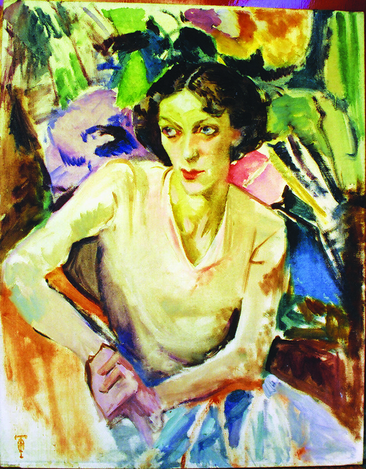Isabel Hunter Tweddle, Portrait of Cynthia Reed c1933, oil on canvas 92.0 x 71.7 cm, Collection Jinx Nolan