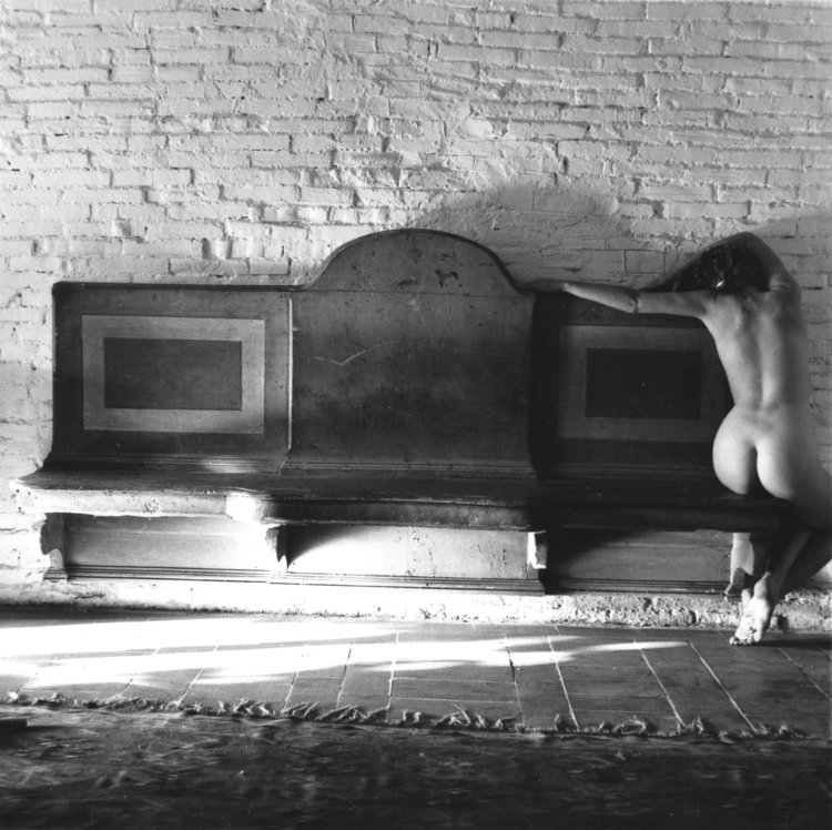 Francesca Woodman, November has been a slightly uncomfortable baroque 1977-78 Gelatin silver estate print, 20.3 x 25.4 cm, © Charles Woodman, Courtesy Charles Woodman, and Victoria Miro, London/Venice