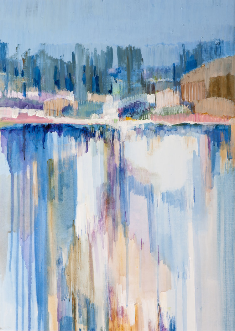 Helen Grey-Smith, Forestry Dam, 1985, acrylic, 67 x 47 cm. Collection of Bankwest / Commonwealth Bank of Australia, Perth. Photograph by Simon Cowling. Courtesy Grey-Smith Estate.